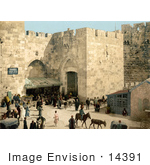 #14391 Picture Of Hebron Gate David'S Gate Jaffa Gate Jerusalem