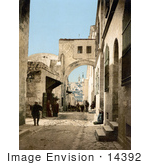 #14392 Picture Of The Arch Of Ecce Homo Jerusalem