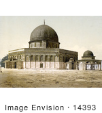 #14393 Picture Of The Mosque Of Omar And Judgment Seat Of David Jerusalem