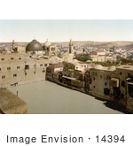 #14394 Picture Of The Pool Of The Patriarchs Bath Pool Of Hezekiah Jerusalem