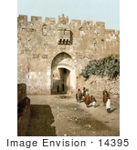 #14395 Picture Of St Stephen'S Gate Jerusalem