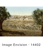 #14402 Picture Of Jerusalem From The Mount Of Olives