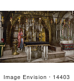 #14403 Picture Of The Calvary And The Greek Altar The Holy Sepulchre Jerusalem