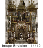 #14412 Picture Of The Holy Sepulchre Interior In Jerusalem Israel