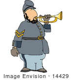 #14429 Male Military Bugler Soldier Clipart by DJArt