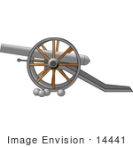 #14441 Cannon and Balls From the Civil War Era Clipart by DJArt
