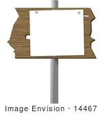 #14467 Blank Sign On A Pole Clipart