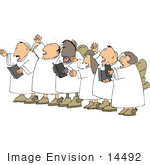 #14492 Singing Angel Choir Clipart