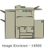 #14500 Copy Machine, Copier and Printer Clipart by DJArt