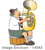 #14543 Male German Tuba Player Clipart