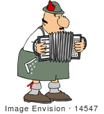 #14547 Male German Squeezebox Accordion Accordian Player Clipart