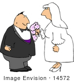 #14572 Middle Aged Caucasian Couple Getting Married Clipart