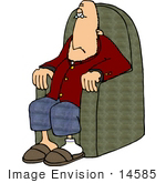 #14585 Caucasian Man Sitting In A Chair Clipart