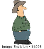 #14596 Caucasian Cowboy With His Hands In His Pockets Clipart