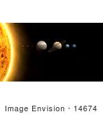 #14674 Picture Of Planets Of The Solar System