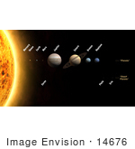 #14676 Picture Of Solar System With The Planets Labeled