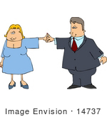 #14737 Blond Woman Dancing With A Man Clipart