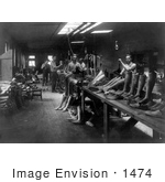 #1474 Photo of Men Making Prosthetic Legs in an Artificial Limb Shop, 1916 by JVPD