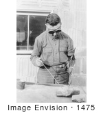 #1475 Photo Of A Man With An Artificial Arm Welding In 1919