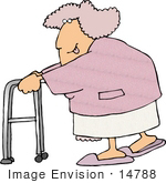 #14788 Senior Caucasian Woman Clipart