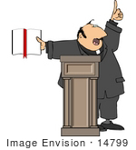 #14799 Preacher Giving A Speech Clipart