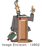 #14802 Preacher Giving A Sermon Clipart