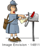 #14811 Middle Aged Caucasian Mail Woman Clipart