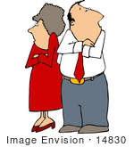 #14830 Angry Couple With Crossed Arms Clipart by DJArt