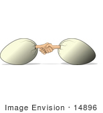 #14896 Human Hands Sticking Out Of Eggs Shaking Hands Clipart