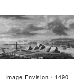 #1490 A View Of Louisburg In North America