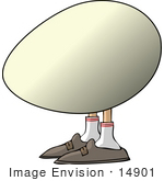 #14901 Egg With Feet Clipart