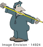 #14924 Man Using a Tape Measure Clipart by DJArt