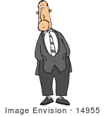#14955 Caucasian Business Man With His Hands In His Pockets Clipart
