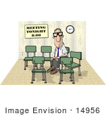 #14956 Man Having A Meeting With Himself Clipart