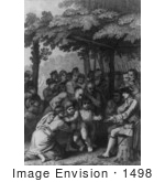 #1498 The Indians Delivering Up The English Captives To Colonel Bouquet