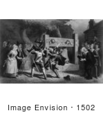 #1502 Stock Photo of People Locked in a Pillory While Awaiting Witch Trials by JVPD