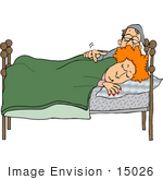 #15026 Man Waking His Wife Clipart