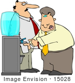 #15028 Business Men At A Water Cooler Clipart