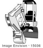 #15036 Excavating Machine Clipart