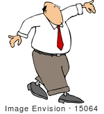 #15064 Business Man Walking On A Tightrope Clipart