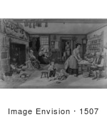 #1507 Photo Of A Family Gathered In A New England Kitchen