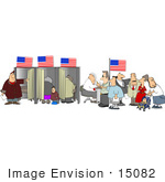 #15082 People In A Voters Office Voting Clipart