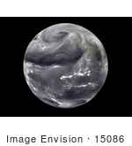 #15086 Picture Of A Full Disk View Of Water Vapor On The Earth