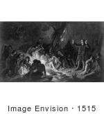 #1515 Picture Of Zeisberger Preaching To The Indians