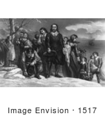 #1517 The Landing Of The Pilgrims At Plymouth Mass