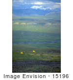 #15196 Picture Of Yellow Tents Camping On The Arctic Refuge Coastal Plain