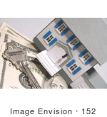 #152 Photograph of a Model House, House Key and Cash by Jamie Voetsch