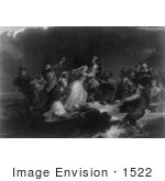 #1522 Landing of the Pilgrims, Plymouth Rock, 1620 by JVPD