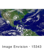 #15343 Picture Of Cylindrical Equidistant View Of The Atlantic Basin