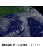 #15414 Stock Photo Of Tropical Storm Chantal